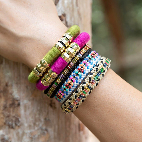 Natalie Holst says color--the more, the better--also is key to her jewelry collections.