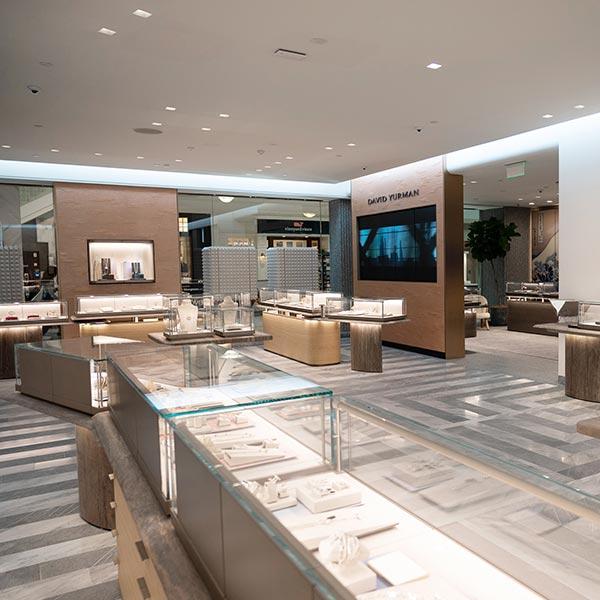The Atlanta store features an elegant modern interior