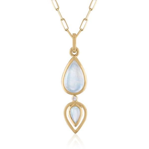 Loriann double moonstone pendant