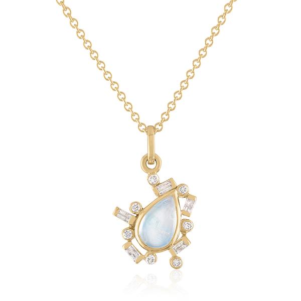 Loriann moonstone pendant with diamonds