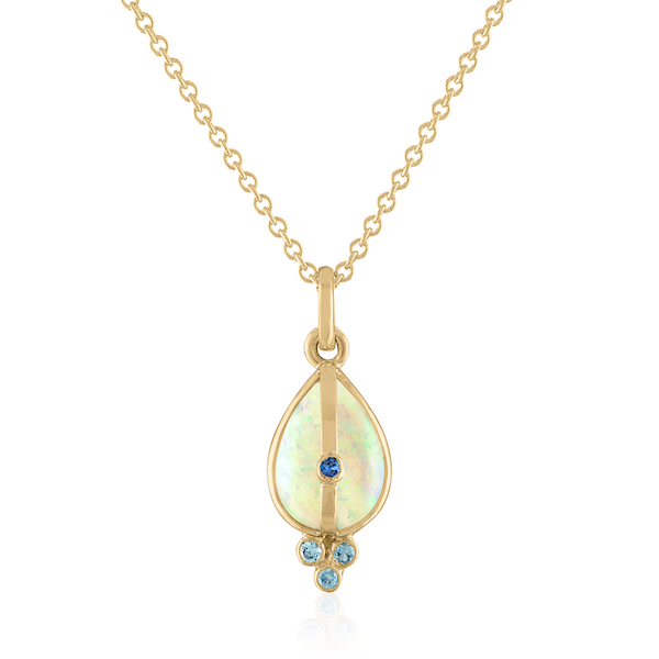 Loriann opal sapphire pendant