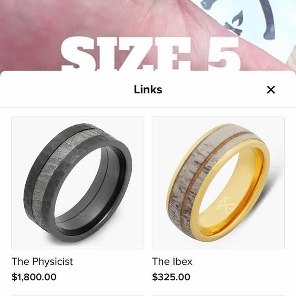 In the pilot program, TikTok users who click on a Manly Bands post that is tagged with a product link are taken directly to a shopping link or website.