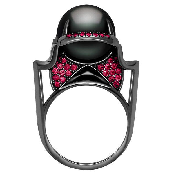 Marei Isis black pearl ring