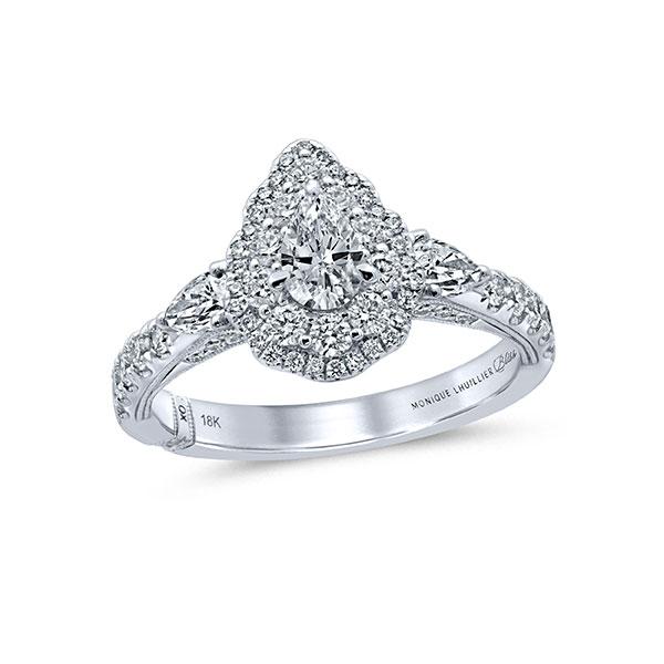 Monique Lhuillier pear shape engagement ring
