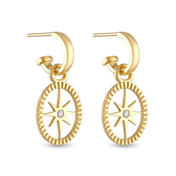 Pamela Zamore oval star earring