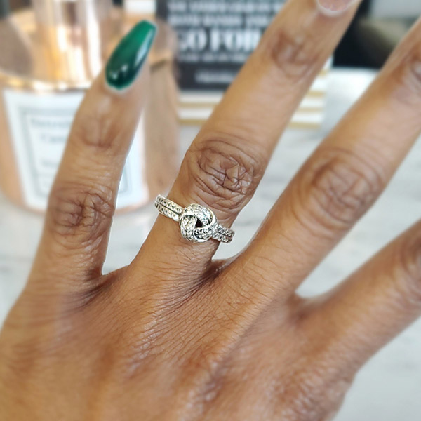Shea Hicks-Whitfield says her husband's love-knot ring reminds her that their bond is unbreakable.