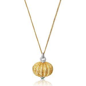 Shruti Sushma yellow pumpkin pendant