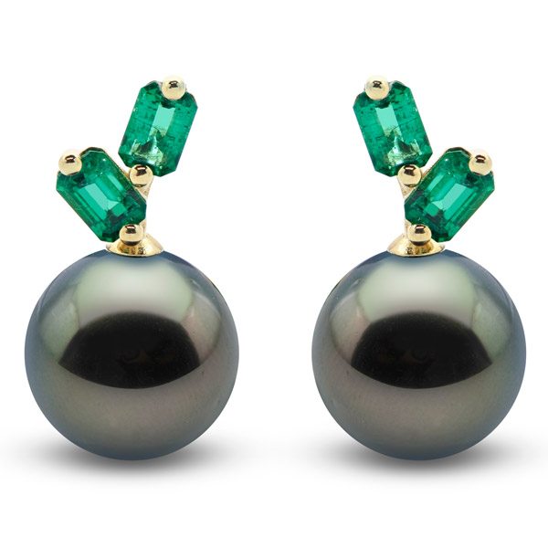 Suzanne Kalan Tahitian pearl earrings