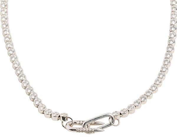 Uniform Object Modular Brilliant tennis necklace