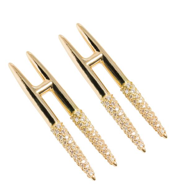 Uniform Object Tusk earrings