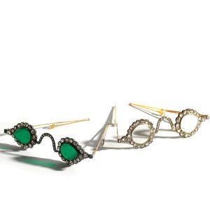 emerald diamond glasses