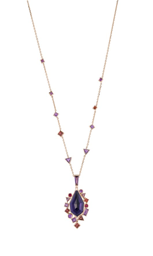 Stephen Webster's new Gold Struck collection Crystal Haze pendant necklace debuted at Baselworld