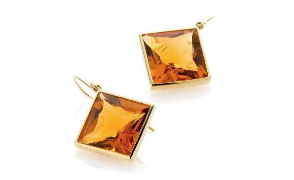 Bahina citrine drop earrings