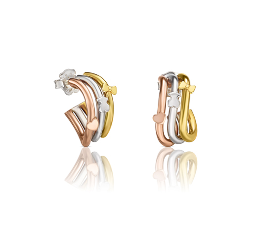 Earrings in 18k gold vermeil, $325; Tous