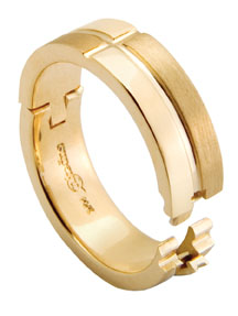 CliQ band in 14k gold with Superfit hinged shank