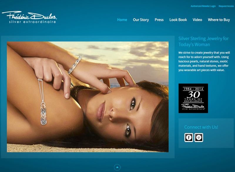Frederic Duclos redesigned website 2014