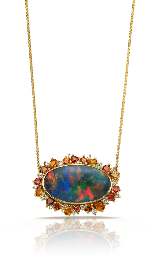 Opal and gold necklace from Pamela Huizenga