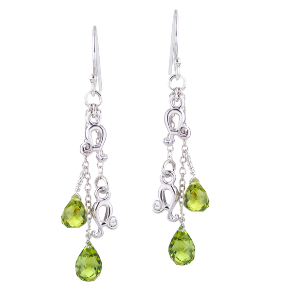 WYS Jewelry Leo peridot briolette drop earrings