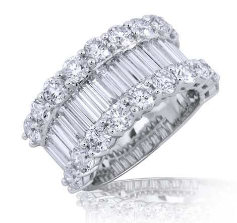 Mira Style Jewellery baguette diamond band