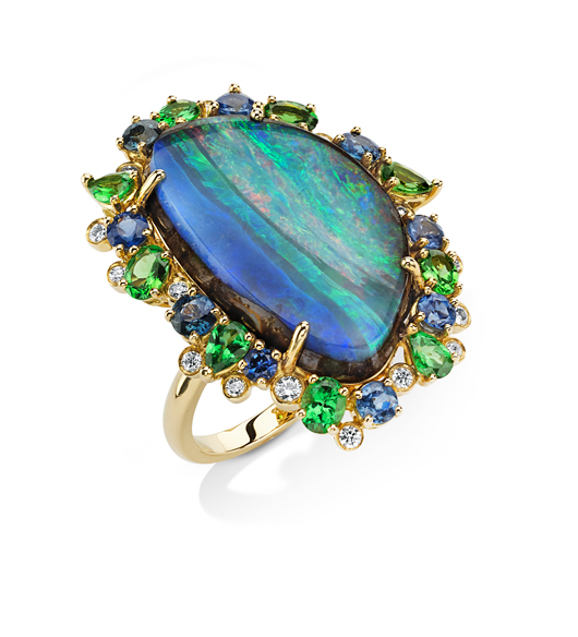 Opal and gold ring from Pamela Huizenga