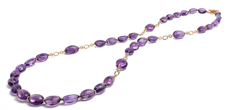 Goshwara Freedom long amethyst necklace