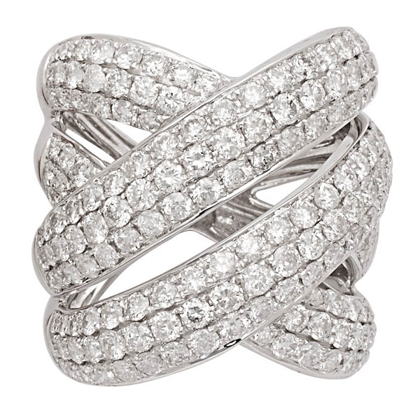 Alishaev Brothers diamond wrap ring