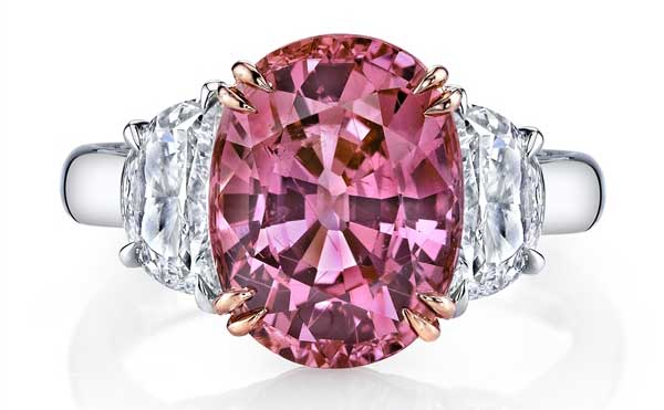 Omi Prive two-tone padparadscha ring