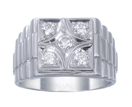 Savvy Jewelry Co. men's diamond ring