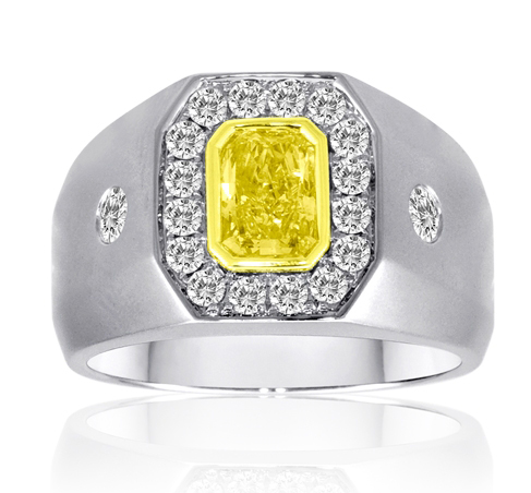 First Image Design men's yellow diamond ring