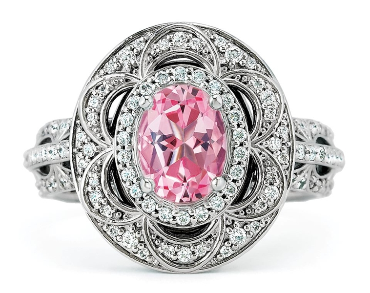 Stuller ornate oval engagement ring