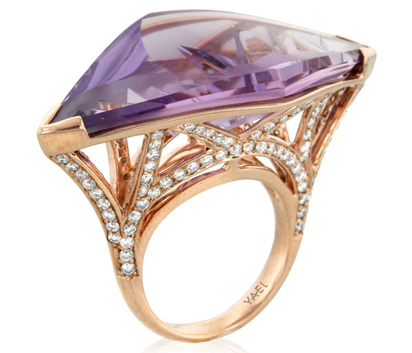 Yael Designs Bay Bridge amethyst ring
