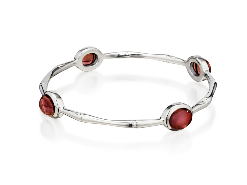 Thistle & Bee garnet bamboo bangle