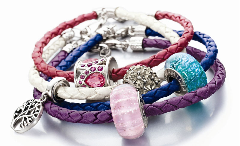Chamilia leather braided charm bracelets
