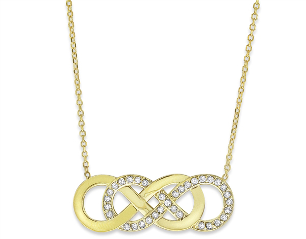 KC Designs double infinity diamond necklace