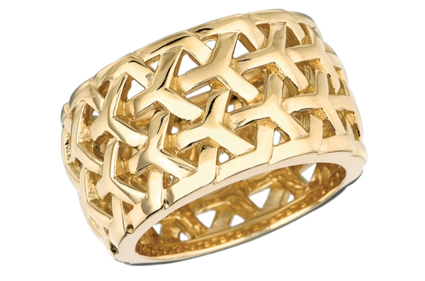 Gemveto gold Y Knot ring
