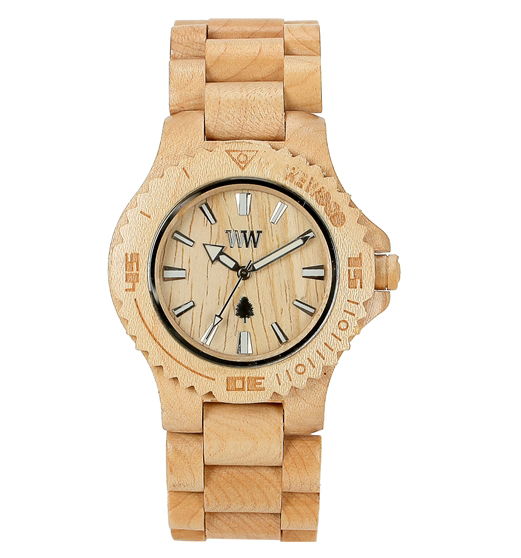 WeWOOD date beige watch