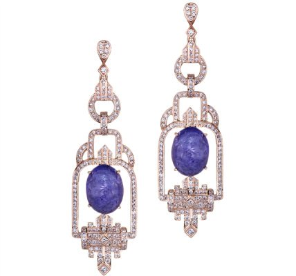 Sethi Couture tanzanite Deco drop earrings