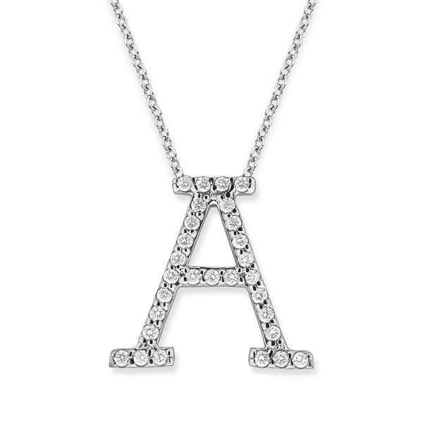 KC Designs All Star diamond initial pendant A