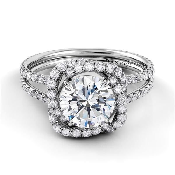 Danhov Eleganza Flower diamond engagement ring