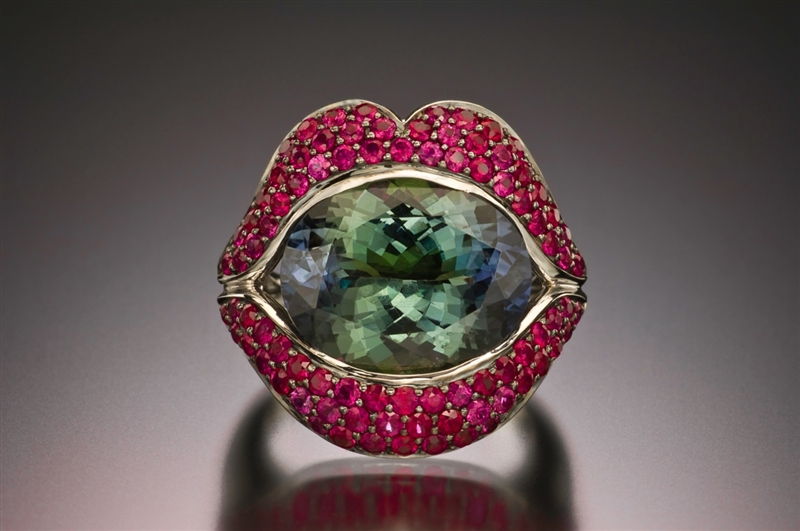 Loretta Castoro The Big Kiss tanzanite ring