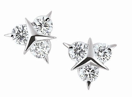 Garavelli Mercedes diamond stud earrings