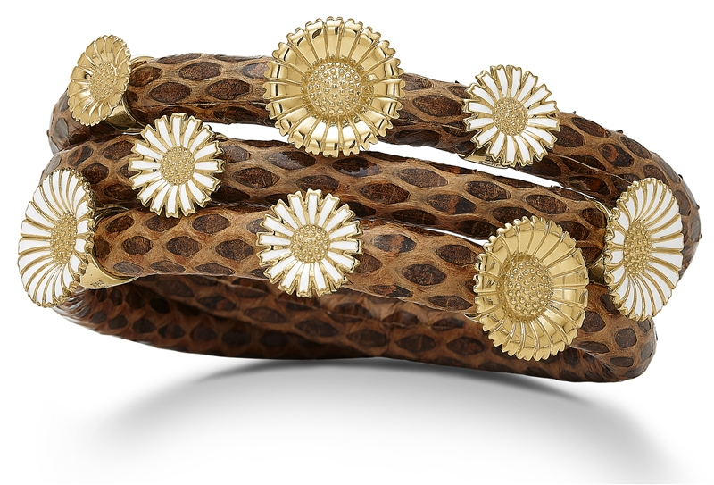 Lovelinks brown snake daisy wrap bracelet
