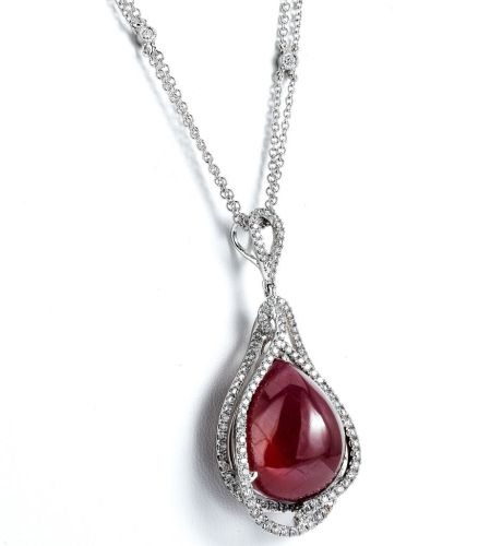 Supreme Jewelry glass-filled ruby pendant