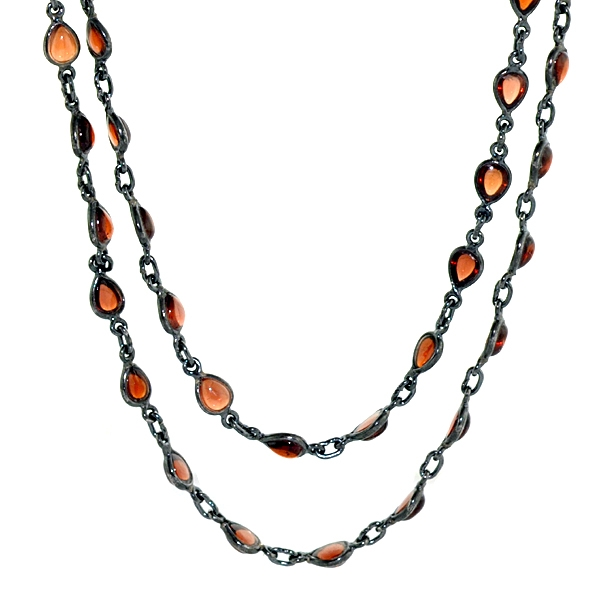 Gemco Designs natural garnet strand necklace