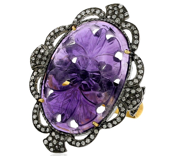 Gemco Designs carved amethyst ring
