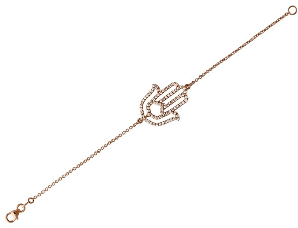 Carl K Gumpert rose gold diamond hamsa bracelet