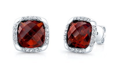 Carl K Gumpert garnet stud earrings