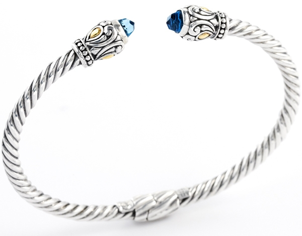 Cydonia & co. twisted cable blue topaz bracelet