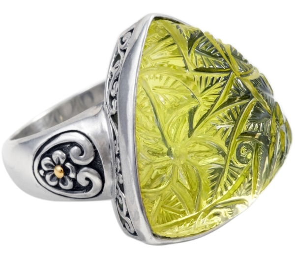 Cydonia & Co. carved lemon quartz ring