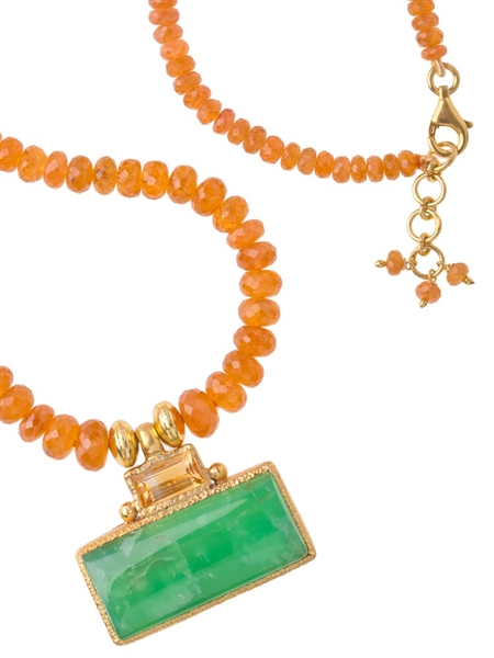 Vasant Designs Mandarin garnet and citrine necklace